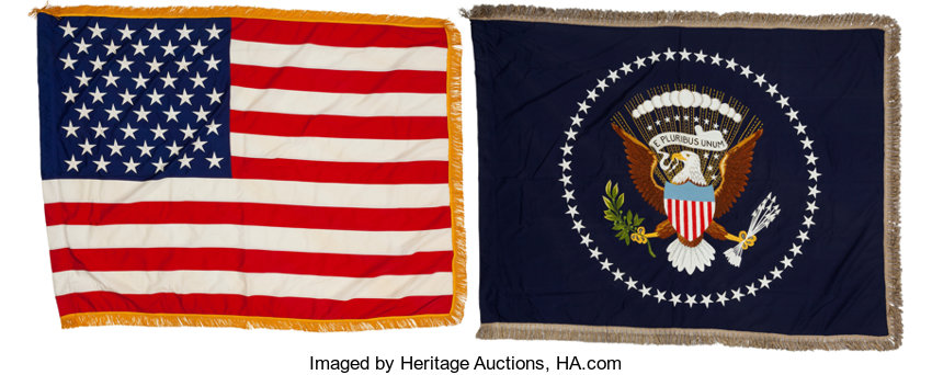 AntiquesTextiles John F Kennedy Two White House Oval Office Flags