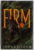 Books:Fiction, John Grisham. INSCRIBED. The Firm. New York: Doubleday, [1991]. Later edition. Inscribed by the author on the half...