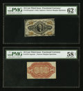 Fractional Currency:Third Issue, Fr. 1251SP/1251-4SP 10¢ Third Issue Narrow Margin Pair.. ... (Total: 2 notes)