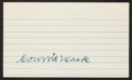 Baseball Collectibles:Others, Connie Mack Signed Index Card....