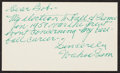 Baseball Collectibles:Others, Wahoo Sam Crawford Signed and Inscribed Index Card....