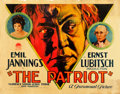 "Movie Posters:War, The Patriot (Paramount, 1928). Half Sheet (22"" X 28"") Style A.. ..."
