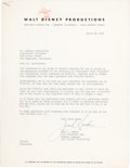 Animation Art:Poster, Walt Disney Productions Letter to Courvoisier (1946).... (Total: 3Items)