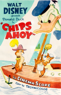 Chips Ahoy Theatrical Poster (Walt Disney, 1956)