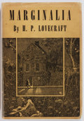Books:Science Fiction & Fantasy, H. P. Lovecraft. Marginalia. Sauk City: Arkham House, 1944.Collected by August Derleth and Donald Wandrei. Firs...