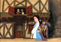 Animation Art:Presentation Cel, Beauty and the Beast Presentation Cel and ProductionBackground (Walt Disney, 1991)....