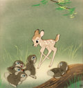 Animation Art:Production Cel, Bambi Faline with Thumper and Friends Production Cel (WaltDisney, 1942)....