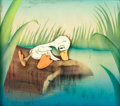 Animation Art:Production Cel, The Ugly Duckling Production Cel Set-Up (Walt Disney,1939)....