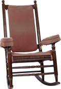 Antiques:Decorative Americana, John F. Kennedy: White House Rocking Chair Used in the Oval Office,with Photograph of JFK Sitting in the Chair beside Astrona...(Total: 2 Items)