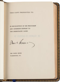 "John F. Kennedy: Profiles in Courage ""Signed"" Presidential Gift, 1961"