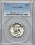 Washington Quarters, 1939-S 25C MS67 PCGS....