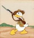 Animation Art:Production Cel, Donald Gets Drafted Donald Duck Production Cel (Walt Disney,1942)....