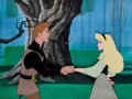 Animation Art:Production Cel, Sleeping Beauty Briar Rose and Prince Phillip Production CelSet-Up (Walt Disney, 1959)....
