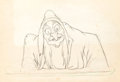 Animation Art:Production Drawing, Snow White and the Seven Dwarfs The Old Hag ProductionDrawing (Walt Disney, 1937)....