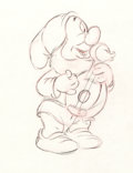 Animation Art:Production Drawing, Snow White and the Seven Dwarfs Sneezy Production Drawing(Walt Disney, 1937)....