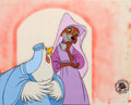 Animation Art:Production Cel, Robin Hood Maid Marian and Lady Cluck Production Cel Set-Up(Walt Disney, 1973)....