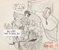 Animation Art:Production Drawing, Tom and Jerry Gag Illustration of Bill Hanna and Joe Barbera (MGM, 1944)....