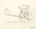Animation Art:Production Drawing, Canine Caddy Mickey Mouse Production Drawing (Walt Disney, 1941)....