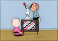 Animation Art:Production Cel, Charlie Brown/Peanuts Ford Falcon Commercial Charlie Brown,Snoopy, and Linus Production Cel Set-Up with Background (B...