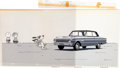 Animation Art:Production Cel, Charlie Brown/Peanuts Ford Falcon Commercial Charlie Brown, Linus, and Snoopy Production Cel and Pan Background (Bill ...