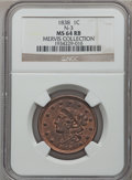 1838 1C MS64 Red and Brown NGC. N-3, R.1. Our EAC Grade MS63....(PCGS# 1742)