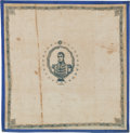 "Political:Textile Display (pre-1896), William Henry Harrison: Cotton ""Ohio"" Bandanna...."