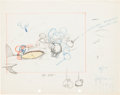 Animation Art:Production Drawing, The Mail Pilot Mickey Mouse Production Drawing Group (Walt Disney, 1933).... (Total: 2 Items)