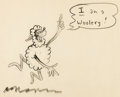"Animation Art:Production Drawing, Dr. Seuss ""I Am A Woolery"" Gag Original Illustration (UPA,1951)...."