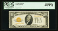 Small Size:Gold Certificates, Fr. 2400 $10 1928 Gold Certificate. PCGS Extremely Fine 40PPQ.. ...