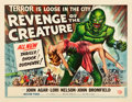 "Movie Posters:Horror, Revenge of the Creature (Universal International, 1955). Half Sheet(22"" X 28"") Style A.. ..."