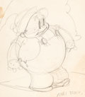Animation Art:Production Drawing, Willie Whopper Sketch by Grim Natwick (Ub Iwerks/MGM, 1934)....