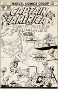 Original Comic Art:Covers, Sal Buscema Captain America #219 Cover Original Art (Marvel,1978)....