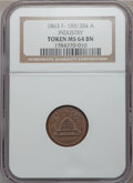 Civil War Patriotics, 1863 Token Industry MS64 NGC. Fuld-188/384a....