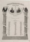 Political:Inaugural (1789-present), Lincoln & Johnson: Inauguration Ball Invitation....