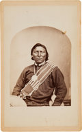"Photography:Cabinet Photos, William Henry Jackson Cabinet Card: Photograph of ""Ute ChiefTar-Boo-Cha-Ket""...."