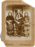 Photography:Cabinet Photos, Cabinet Card: Quanah Parker & Wives by Irwin,...