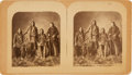 Photography:Stereo Cards, Stereoview: Pawnee Bill as Interpreter for Pawnee Indians Who Were Members of Buffalo Bill's Wild West....