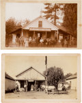 Photography:Cabinet Photos, Boudoir Cards: Two California Scenes- Dobbins(?) and SanGabriel.... (Total: 2 Items)