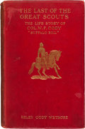 "Autographs:Celebrities, William F. ""Buffalo Bill"" Cody: Signed and Inscribed Biography. ..."