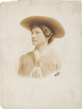 Photography:Studio Portraits, Annie Oakley: Oversized Signed Photograph as The Western Girl. ...