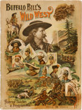 Miscellaneous:Ephemera, Buffalo Bill's Wild West: 1894 Programme. ...