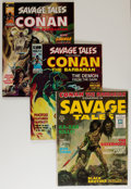 Magazines:Adventure, Savage Tales #1 and 3-5 Group (Marvel, 1971-74) Condition: Average GD/VG.... (Total: 4 Comic Books)