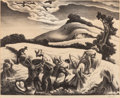 Fine Art - Work on Paper:Print, THOMAS HART BENTON (American, 1889-1975). Cradling Wheat,1939. Lithograph on paper. 10-1/4 x 12-3/8 inches (26.0 x 31.4...