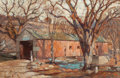 Fine Art - Painting, American:Modern  (1900 1949)  , ROBERT EMMETT OWEN (American, 1878-1957). The CoveredBridge. Oil on canvas. 39-3/4 x 60-1/2 inches (101.0 x 153.7cm). ...