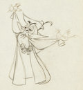Animation Art:Production Drawing, Sleeping Beauty Owl and Forest Animals Production Drawing(Walt Disney, 1959)....