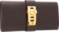 Luxury Accessories:Bags, Hermes 29cm Ebene Calf Box Leather Medor Clutch Bag with GoldHardware. ...