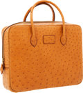 Luxury Accessories:Bags, Hermes Cognac Ostrich Eiffel Bag with Gold Hardware. ...