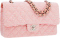 Luxury Accessories:Bags, Chanel Pink Quilted Tweed Medium Double Flap Bag with SilverHardware. ...