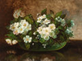 Fine Art - Painting, American:Antique  (Pre 1900), CARDUCIUS PLANTAGENET REAM (American, 1837-1917). Still Lifewith Flowers on a Table. Oil on canvas. 12 x 16 inches (30....