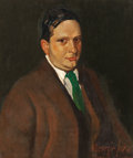 Fine Art - Painting, American:Modern  (1900 1949)  , GEORGE BENJAMIN LUKS (American, 1867-1933). The Green Tie(Portrait of Edward H. Smith), circa 1915. Oil on canvas. 30x...